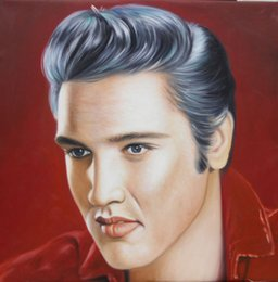 elvis presley decor 2020 - Framed ELVIS PRESLEY,100% Handpainted Portrait Modern Wall Decor Art Oil Painting On High Quality Canvas in Multi Size c