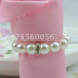 Cheap wedding decoration supplies online cheap wholesale wedding cheap sale white pearl diamond napkin rings for hotel wedding banquet table decoration accessories party supplies junglespirit Image collections