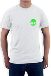 Green Gifts Ideas Canada - Alien Face Print - I Believe Neon Green Alien Head UFO T-Shirt Gift Idea Men Adult Slim Fit T Shirt S-Xxl