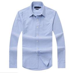 Venta al por mayor de Nuevas ventas famosas costumbres aptas Camisas informales Popular Golf Negocios de bordado Caballos Camisas de manga larga para hombres