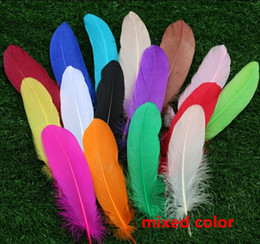 $enCountryForm.capitalKeyWord Canada - 1000PCS High quality beautiful goose feather 15-20cm 6-8 inches 17 colors Wedding centerpiece decor