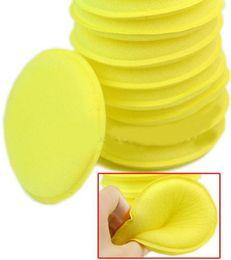 12pcs / Set 1200pcs / 100sets Cire de nettoyage de cercle de voiture anti-rayures / éponges de mousse jaune polonais Pad outil de nettoyage de voiture Entretien de voiture EMS gratuit en Solde
