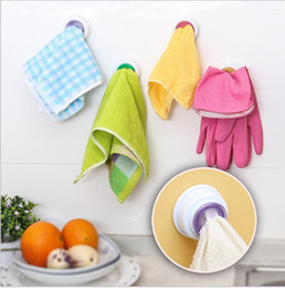 Bathroom Tools Canada - Hot Sale Kitchen Bathroom Home Universal Round Shaped Self-Adhesive Towel Clips Hooks Hangers Cleaning Cloths Clips Free Shipping
