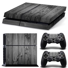 Playstation console skins online shopping - Gray Wood Grain PS4 Games Skin Decals Vinyl Wrap Stickers Protector For PlayStation Console Controller Skins for Free