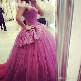 Robe Sweetheart Sweet Sweet Sweetheart Pas Cher-Sweetheart Purple Sweet 16 Robes 2016 Appliqued Lace Masquerade Ball Gowns Nouveau luxe Backless Quinceanera Gowns Custom Made Pageant Robe