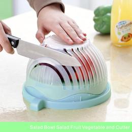 Venta al por mayor de Home Creative Ensalada de 60 Segundos Ensalada de Ensalada de Frutas Vegetales y Cortadores Ensalada Rápida Chopper Cutter Washer Easy.