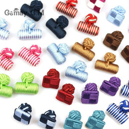 $enCountryForm.capitalKeyWord Australia - Hand-woven Cuff Links for shirts Cufflinks 22 colors For men French cufflinks wedding Best Fathers Day Xmas gift