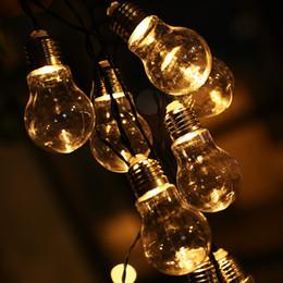 10 LED Transparent Globe Ball String Lights 4M Solar Powered Christmas  Light Patio Lighting For Home Garden Party Decoration