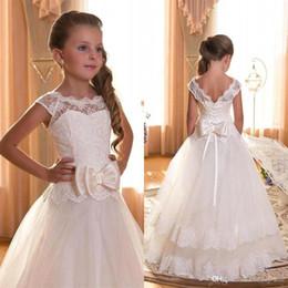 discount cheap big girl wedding dresses 2017 cheap in stock flower girl dresses sheer jewel neck