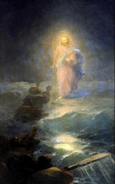 Painting Christ Canada - Ivan Constantinovich Aivazovsky Christ Walking on the water,Pure Hand-painted Seascape Art oil painting On Canvas in any size customized