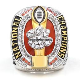 2016 más nuevos Clemson Tigers fútbol anillo campeonato hombre moda aleación de zinc deportes joyería