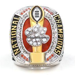 2016 mais novo Clemson Tigers futebol campeonato anel homem moda liga de zinco jóias esportivas