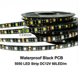 pcb strip board NZ - Black PCB board 12V led strip light waterproof IP65 60leds m 5050 strip light waterproof outdoor indoor decoration