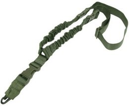 China Tactical American US One Single Point Sling Adjustable Bungee belt for Rifle Gun Strap System hunting CS game suppliers