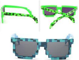 $enCountryForm.capitalKeyWord NZ - Brand new Vintage Pixel Mosaic Plaid sunglasses fashion men women CPU Bit Low Resolution Pixelated Sunglasses UV400 Party Fancy Dress props