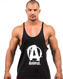 $enCountryForm.capitalKeyWord Australia - Wholesale-Mens Bodybuilding Vest GYM Tank Tops Cotton sleeveless mens y back stringer tank top undershirt Sports Training camisetas gym
