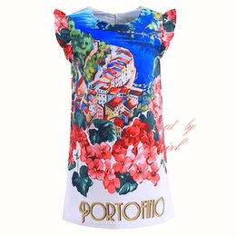 Floral petals online shopping - Pettigirl Newest Children Dresses Flower Print Girls Dresses Elegant New Design O Neck Collar Summer Clothing GD90326 F