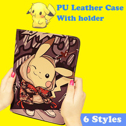 $enCountryForm.capitalKeyWord NZ - For Ipad Mini Case pikachu PU Leather Wallet Case Soft TPU Cover Case Kickstand Case For Ipad 2 3 Ipad Mini 2 3 4 With Retail Box PCC050