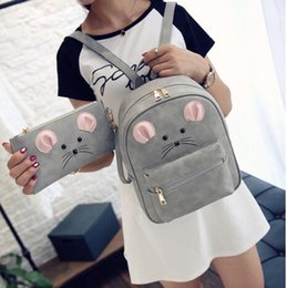mouse fashion Australia - Women School Mini Bag Fashion Pu Cute Cartoon Mouse Men Backpack Unisex 'S New Harajuku Shoulder Travel 2021 Hwqfd