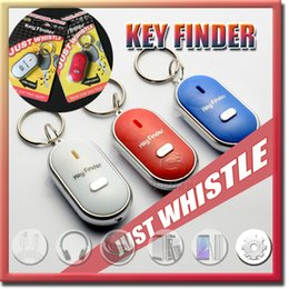 led red pack NZ - Whistle Activated Key Finder with LED Light and Switch Anti-Lost Alarm for Key Black White Blue Red Retail Packing