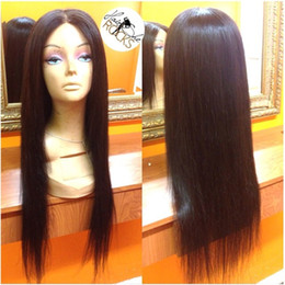 Brazilian Hair Glueless Lace Front Wigs Canada - Middle Part 7A glueless boby wavy full lace human hair wigs with baby hair brazilian lace front wavy wig for black women