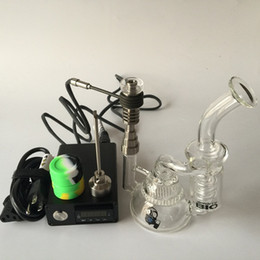 $enCountryForm.capitalKeyWord NZ - 2016 Electric Digital Nail Kit For DIY Smoker Coil Upgrade 6 in1 Ti Qtz Hybird Nail with Glass Bong Vapor Wax Dry Herb