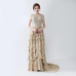 $enCountryForm.capitalKeyWord Australia - Hot Sale Prom Dresses vestidos de noiva sexy fashion Evening Dresses Formal Party Gowns Halter neck Ruffles Floor Length