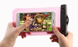 Venta al por mayor de Funda universal impermeable para iPhone 5/6 / 6s / 6 plus / 7/8 plus / samsung galaxy s7 s6 Bolsa de teléfono celular de alta calidad de DHL