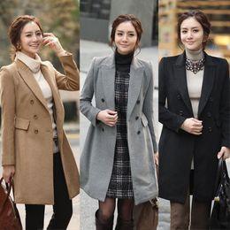 Grey Wool Blend Overcoat Women Online | Grey Wool Blend Overcoat ...