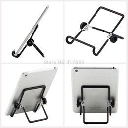 $enCountryForm.capitalKeyWord Canada - Metal Iron Wire Steel Wire 180 Degree Adjustable Foldable Tablet PC Stand Holder for 7 8 9 9.7 10 inch mini IPAD 2 3 4 air Tablet PC