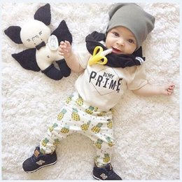 $enCountryForm.capitalKeyWord Canada - 2018 Baby Boy Clothes Set Fashion Pineapple Newborn Clothing Suit 100% Cotton Toddler Jumpsuit Girls Outfits T-Shirt + Trouser 0 1 2 3 Years