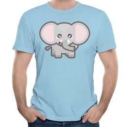 Cheap T Shirts Shorts Canada - Personalized t-shirt for man new arrived O collar short sleeve tees shirt men's cotton tshirt slim young guys cheap shirts Kawaii elephant