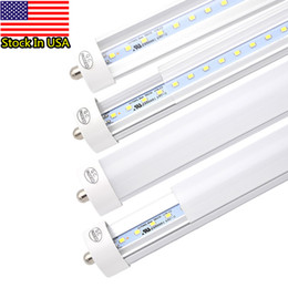 Chinese  8FT T8 LED Tube Light 45W (90W Equivalent) Shop Lights, 4800LM, Works WITH or without a Ballast, 6000K Daylight White, Single Pin, Fluoresce manufacturers