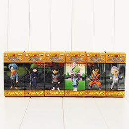 $enCountryForm.capitalKeyWord NZ - 6pcs Set 8cm Dragon Ball Z Super Saiyan Kakarotto Son Goku Trunks Torankusu PVC Figure Dragonball anime Model Toy Kids Phone Accessories