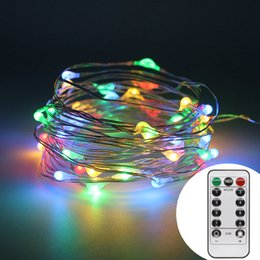 5m 50 leds battery power led string lights with remote controller for wedding christmas party holiday halloweendecoration light