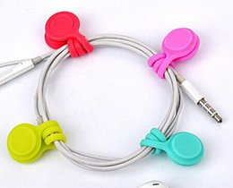 Cord Cable Bobbin NZ - 10 Pcs Lot Silicone Magnet Coil Earphone Cable Winder Headset Type Bobbin Winder Hubs Cord Holder Cable Wire Organizer