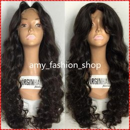 Cheap deep wave virgin half wigs online shopping - wigs for black women human hair wigs full lace wig cheap Wavy remy virgin Chinese density african american body wave