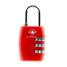 Digit Tools Canada - Hot Sale 3 Digit Resettable Combination Red Color Suitcase Customs Code Safe Travel Luggage Code Lock Locksmith Tools