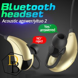 Sports Texts Canada - Samsung note7 Wireless Bluetooth V4.1 Headset Y822 Sport Text And Noise Reduction Stereo Headphone Earphone Best CSR high quality