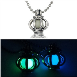 Flowers For Summer Planting Canada - Hollow pumpkin car luminous beads pendant necklace jewelry night light spring and summer accessories for men and women