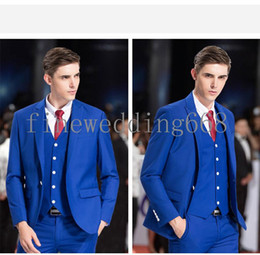 Mens Suit Royal Blue Red Tie NZ | Buy New Mens Suit Royal Blue Red ...