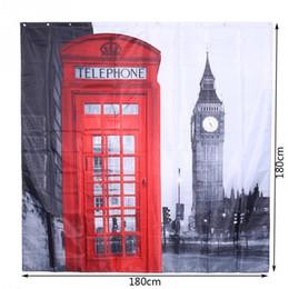 london big ben polyester shower curtain famous city landmark pattern waterproof home bathroom curtains