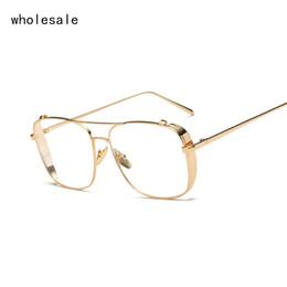 square gold clear eyeglasses frames men glasses women transparent optical eyeglasses oversized punk eyewear frame ok017 discount eyeglasses oversized - Discount Eyeglasses Frames