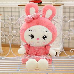 45-100 cm dos desenhos animados rosa / verde coelho brinquedos de pelúcia PP algodão recheado animais de pelúcia menina coelho boneca de presente de aniversário crianças brinquedos