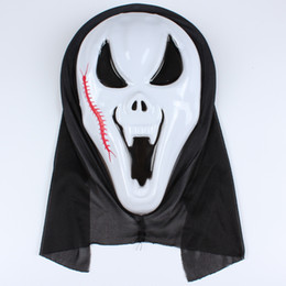 red devil mask UK - Halloween Ghost mask whole face masks the devil screaming dance props Halloween Mask single day