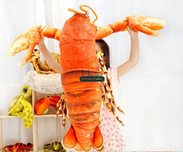 Lobster Toys NZ - Dorimytrader 110cm X 80cm Large Plush Emulational Animal Lobster Toy Stuffed Soft Pillow Doll Kids Gift Free Shipping DY61166