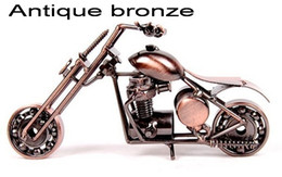 Discount wrought iron models - Fashion birthday gift home decoration crafts Creative gifts motorcycle model gifts wrought iron handicrafts iron car mot