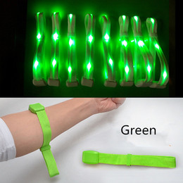 $enCountryForm.capitalKeyWord NZ - Hot Nylon Creative Watch Flash Wrist Band Glow Luminous Bracelets Fastival Music Party Gifts LED Wrist Strap Safety Light Shine Ribbon