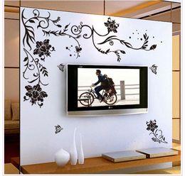 Simple Bedroom Murals discount simple flower wall murals | 2017 simple flower wall
