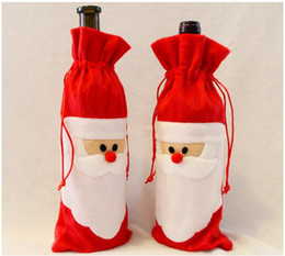 $enCountryForm.capitalKeyWord NZ - Red Wine Bottle Cover Bags Christmas Dinner Table Decoration Home Party Decors Santa Claus Free Shipping